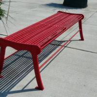 Urban Renewal backless bench with laser cut ends 2