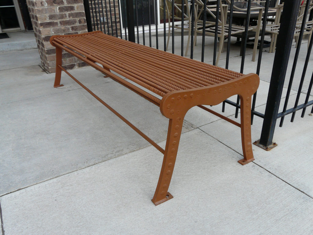 Urban Renewal backless bench with laser cut ends 1