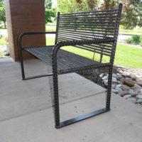 Urban Renewal backed bench with rebar ends