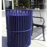 Urban Renewal top load round recycling receptacle