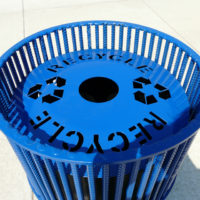 Urban Renewal top load round recycling receptacle 2