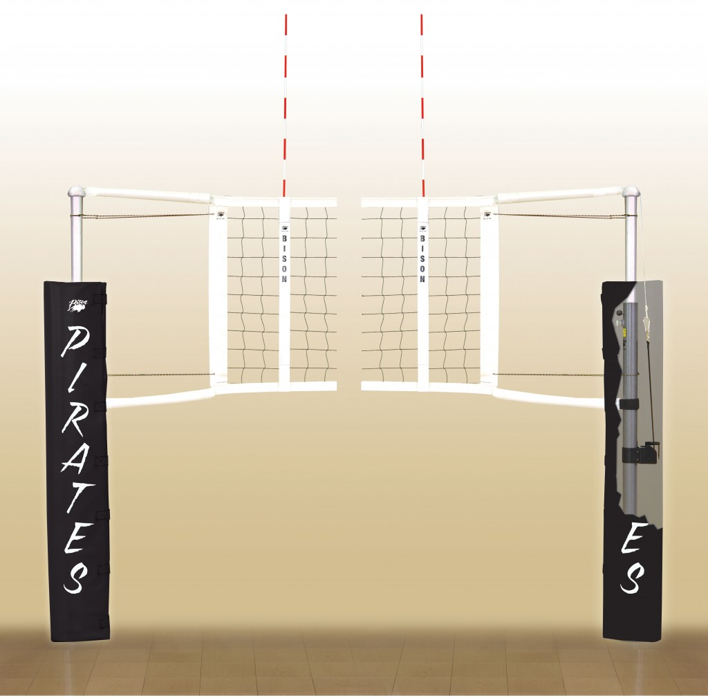 Centerline  Aluminum Volleyball System. 18 padding colors