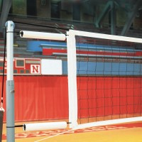 Kevlar Competition Volleyball Net with Cable Covers and Storage Bag