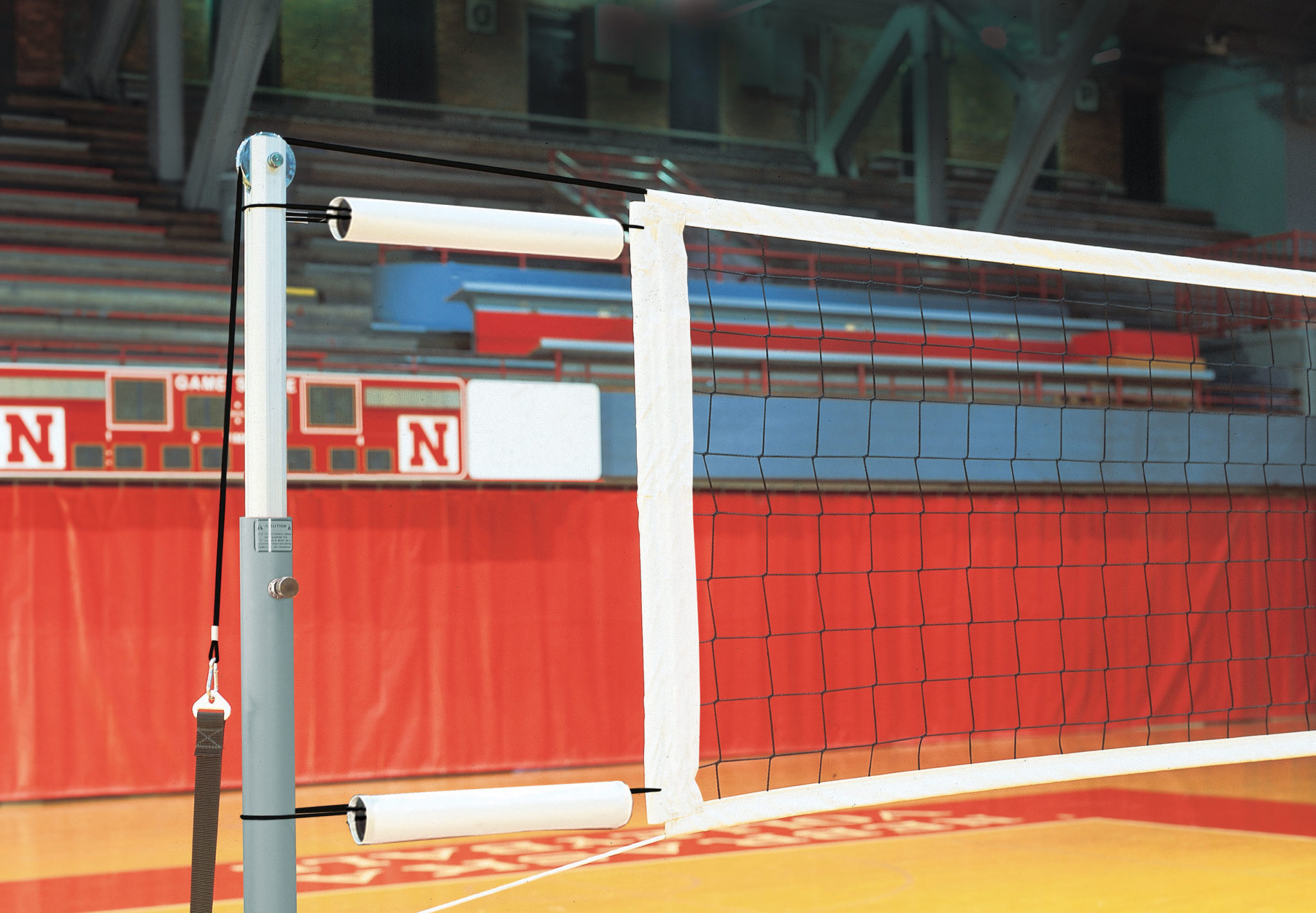 kevlar competition volleyball net with cable covers and storage bag 1