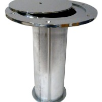 """3"""" Volleyball Socket with Chrome Plated Swivel Steel Cover Plate"""