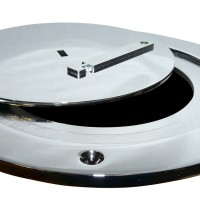 Chrome Plated Swivel Volleyball Floor Plate Cover Only