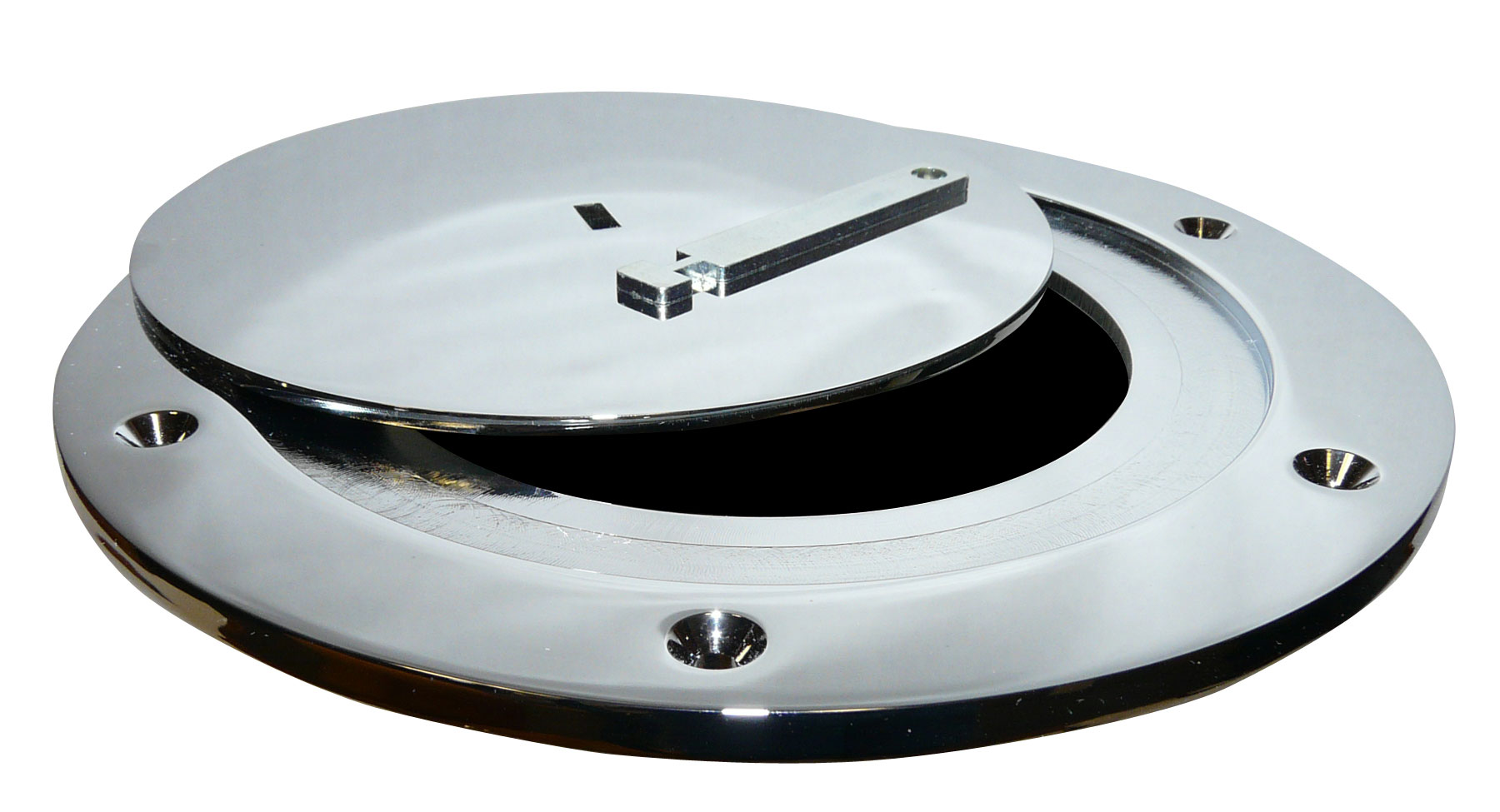 Plate Cover Chrome Plated Steel Swivel Floor Socket Cover Plate Only  Bison Inc.