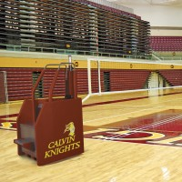 Arena II Freestanding Portable Volleyball System. 18 padding colors