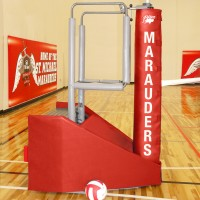 Arena JR Freestanding Portable Volleyball System.  18 padding colors