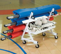 Volleyball Four Post Transport Cart