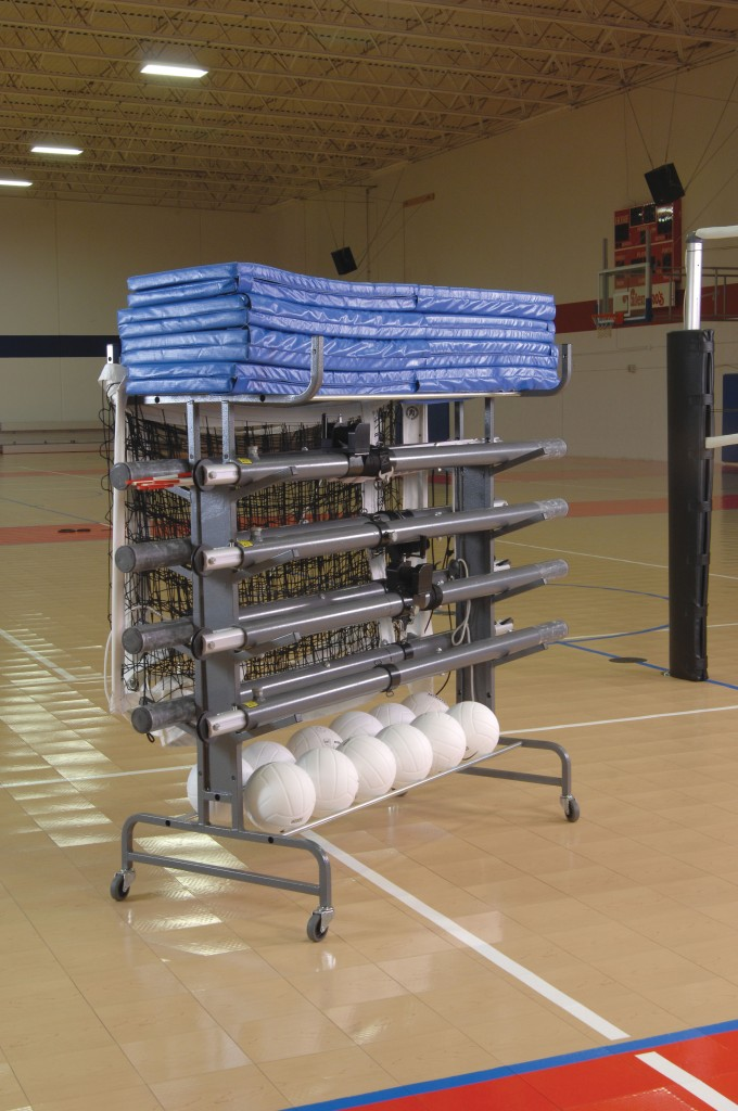 Multi-Court Volleyball Storage System 1