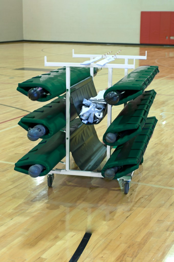 Six Post Deluxe Volleyball Cart 1