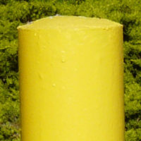 Safety yellow enamel bollard paint
