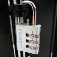 Padlock with three digit programmable code