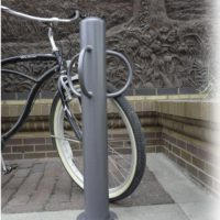 Bollard with optional bike lock loops 2