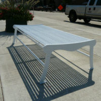 Urban Renewal double width backless bench with laser cut ends